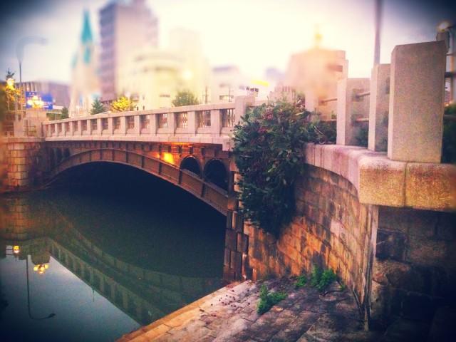 帰り道の堀川。